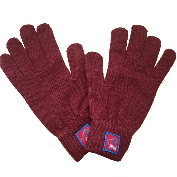 Knitted Gloves With Badge