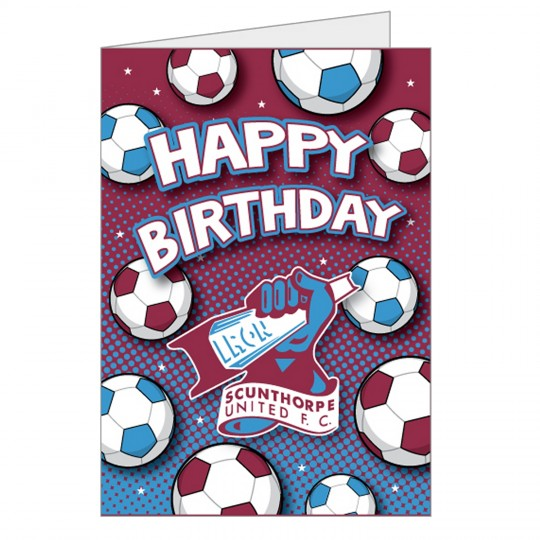 Happy Birthday Footballs Card